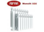 Биметаллический радиатор Rifar Monolit 500 4 секции 3/4