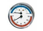 Термоманометр горизонтальный 80мм 1/2- 4 бар (0-120 C)