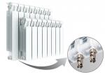 Биметаллический радиатор RIFAR MONOLIT VENTIL 500 - 4 секции нижнее левое подключение