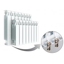 Биметаллический радиатор RIFAR MONOLIT VENTIL 500 - 8 секции нижнее левое подключение