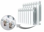 Биметаллический радиатор RIFAR MONOLIT VENTIL 500 - 4 секции нижнее правое подключение