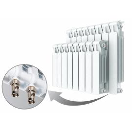 Биметаллический радиатор RIFAR MONOLIT VENTIL 350 - 12 секции нижнее правое подключение