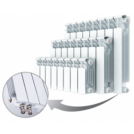 Биметаллический радиатор RIFAR BASE VENTIL 350 - 12 секции нижнее правое подключение