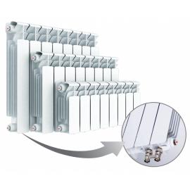 Биметаллический радиатор RIFAR BASE VENTIL 500 - 14 секции нижнее левое подключение