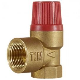 Предохранительная клапан г-г для горячей воды (отопления) 1/2 1,5bar TIM
