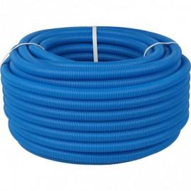 Труба гофрированная ПНД, цвет синий, наружным диаметром 32 мм для труб диаметром 25 мм