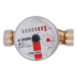 """Счетчик для горячей воды ITELMA 1/2"""" Ду=15, L=110 мм без штуцеров"""